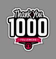 Follower thank-you badge vector image