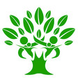 green color family nature tree vector image