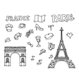Hand drawn Paris vector image