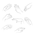hands1 vector image vector image