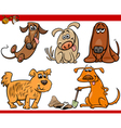 happy dogs cartoon set vector image vector image