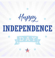 happy independence day usa star light stripes vector image vector image