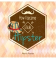 Hipster retro poster vector image vector image