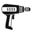 home electric drill icon simple style vector image vector image