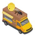 honey truck icon isometric style vector image vector image