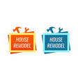 house remodel style logo for home renovation vector image vector image