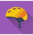 Icon of winter sports helmet vector image