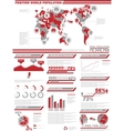 INFOGRAPHIC DEMOGRAPHICS POPULATION 2 RED vector image vector image