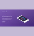 isometric modern touch smart-phone on modern vector image vector image