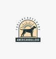 logo american bulldog vintage badge style vector image