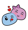 lovely emoji faces icon vector image vector image