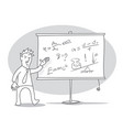 man is giving a lecture vector image