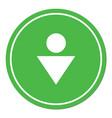 man toilet icon vector image vector image
