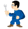 Master with wrenches vector image vector image