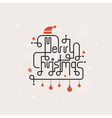 Merry Christmas lettering icon abstract background vector image