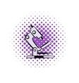 Microscope comics icon vector image vector image