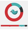 Migrant bird infographic vector image vector image