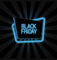 neon banner for black friday vector image