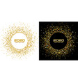 new year 2020 party gold confetti circle frame vector image vector image