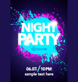 night party design mock up with bright colors vector image vector image