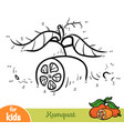 numbers game education game for children kumquat vector image vector image