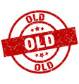 old round red grunge stamp vector image vector image