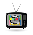Old tv with tv test vector image