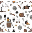 pirate seamless pattern vector image vector image