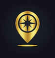 position star gps location colored gold logo vector image vector image