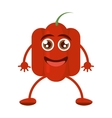 red pepper character vegetable smile vector image