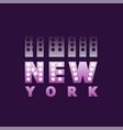 retro new york logo text word american city vector image vector image