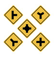 road sign symbol vector image vector image