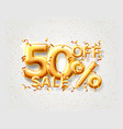 sale 50 off ballon number on gray background vector image vector image
