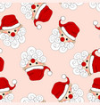 santa claus seamless on light pink background vector image vector image
