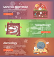 science of life minerals excavation paleontology vector image vector image