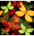 Seamless dark vivid autumn pattern vector image vector image