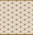 seamless geometric pattern based on japanese vector image vector image