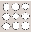 set silhouette frames or cartouches for badges vector image vector image