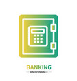 shape design finance icon banking vector image vector image