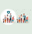 sick and healthy family cartoon healthy and ill vector image vector image
