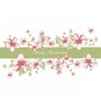 Spring Time Border card invitation vector image