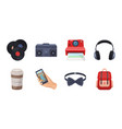 style hipster icons in set collection for design vector image