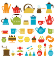 Tea time and coffee time vector image vector image