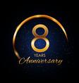template logo 8 year anniversary vector image