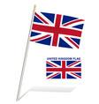 united kingdom flag on a white background vector image