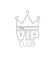 VIP club logo in flat style VIP Club members only vector image vector image