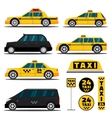 Modern and classic taxi cars vector image