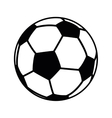 football ball object icon vector image