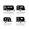 Set of transport icons - trailers vector image
