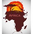 africa savannah fauna and flora vector image